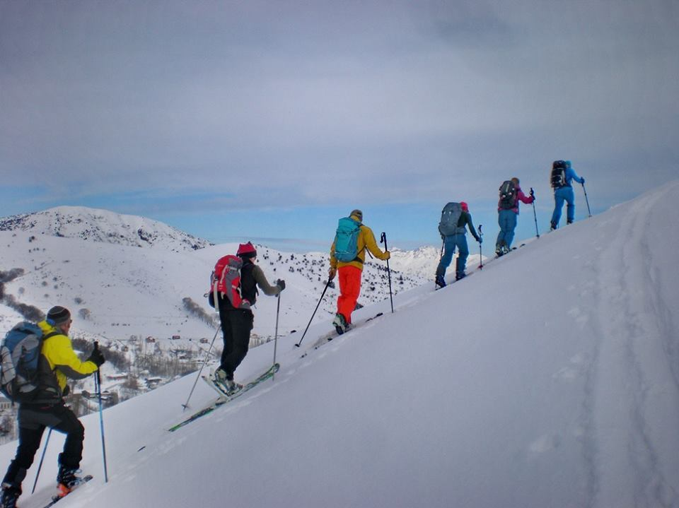 Ski touring in Chimgan ski resort
